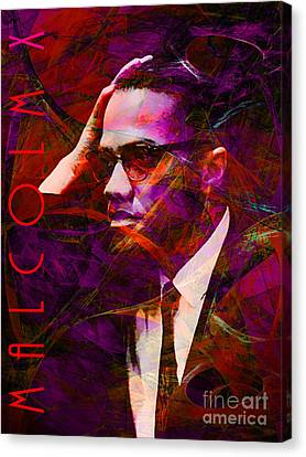 Malcolm X 20140105m28 With Text Canvas Print by Wingsdomain Art and Photography