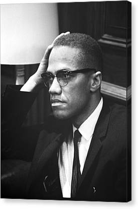 Malcolm X Canvas Print by Underwood Archives Marion S Trikosko