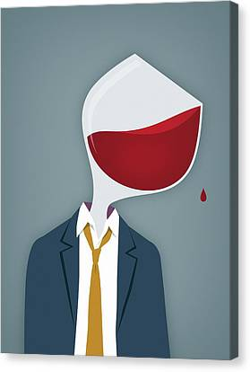 Male Alcoholic Canvas Print by Mark Airs
