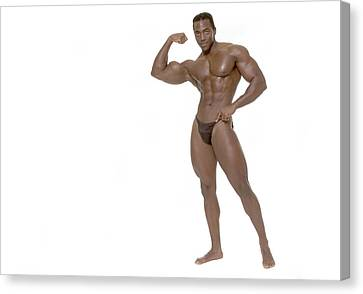 Canvas Print featuring the photograph Male Bodybuilder by Bob Pardue