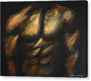 Male Bodybuilder Canvas Print by Dani Abbott
