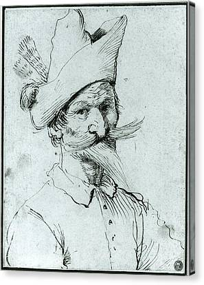 Male Caricature Canvas Print by Follower of Guercino