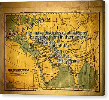 Make Disciples Canvas Print by Larry Bishop