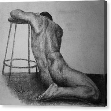 Male Nude 3 Canvas Print by Rachel Hames