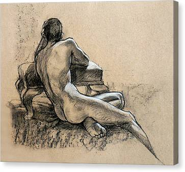 Male Nude Canvas Print by Roz McQuillan