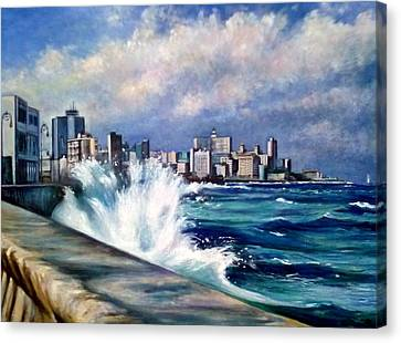 Malecon Havana Canvas Print