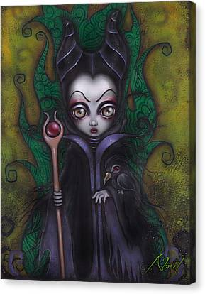 Maleficent  Canvas Print by  Abril Andrade Griffith