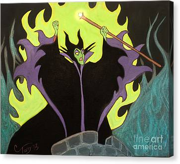 Maleficent Canvas Print by Casey Tovey