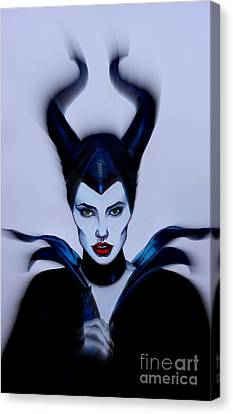 Maleficent Focused Canvas Print by Justin Moore