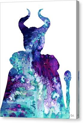 Maleficent Canvas Print by Luke and Slavi