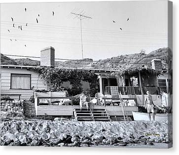 Malibu Beach House - 1960 Canvas Print by Chuck Staley
