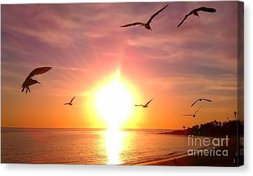 Canvas Print featuring the photograph Malibu Paradise by Chris Tarpening