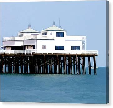 Malibu Pier On A California Blue Sky Day Canvas Print