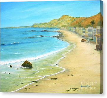 Malibu Road Canvas Print by Jerome Stumphauzer