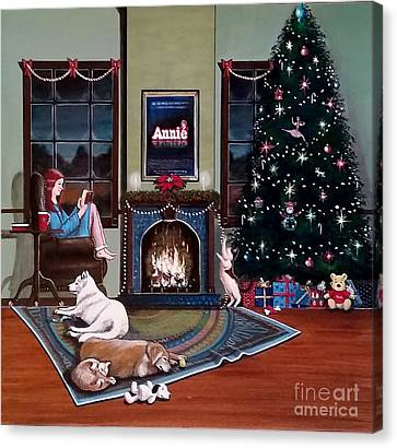 Mallory Christmas Canvas Print by John Lyes