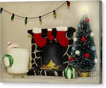 Mallow Christmas Canvas Print by Heather Applegate
