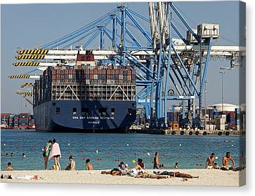 Malta Freeport Canvas Print by Science Photo Library