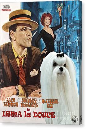 Maltese Art - Irma La Douce Movie Poster Canvas Print by Sandra Sij