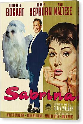 Maltese Art - Sabrina Movie Poster Canvas Print by Sandra Sij