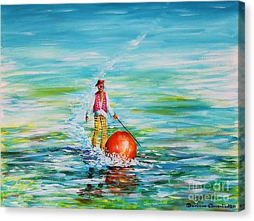 Strolling On The Water Canvas Print