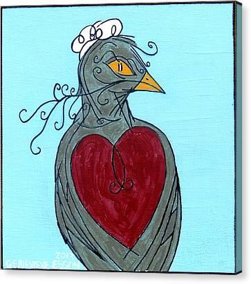 Mama Bird Detail Canvas Print by Genevieve Esson