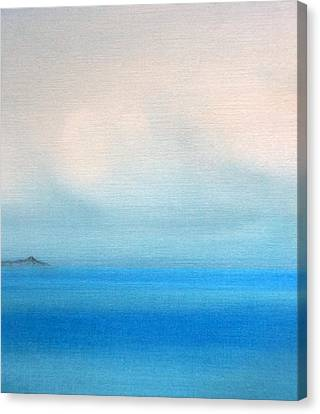 Diamond Head Canvas Print - Mamala Bay Evening Clouds by Kevin Smith