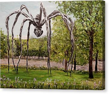 Maman Standing Guard Canvas Print by Betty-Anne McDonald