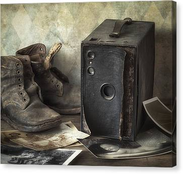 Black Boots Canvas Print - Mama's Memories by Amy Weiss