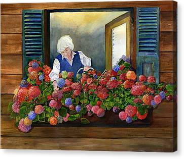 Mama's Window Garden Canvas Print