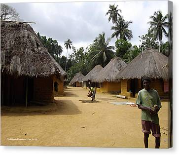 Canvas Print featuring the photograph Mamboima Village by Mudiama Kammoh