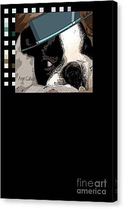 Canvas Print featuring the digital art Mamia Mia by Ann Calvo