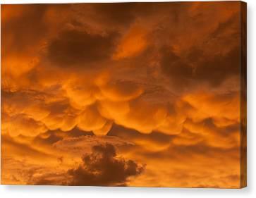 Mammatus Clouds Canvas Print by Paul Rebmann