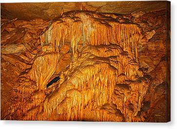 Mammoth Cave Formations Canvas Print by John M Bailey