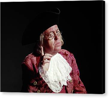 Colonial Man Canvas Print - Man 18th Century Colonial Costume Ben by Vintage Images