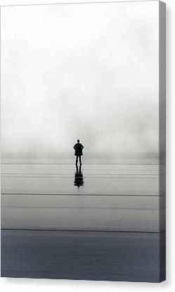 Man Alone Canvas Print