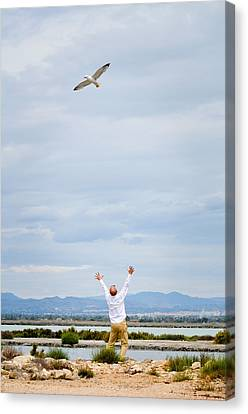 Man And Nature Canvas Print