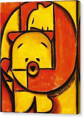 Man And Teddy Bear Art Print Canvas Print by Tommervik