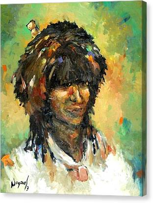 man from East Canvas Print by Negoud Dahab