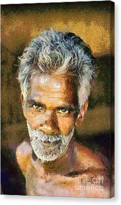 Asia Canvas Print - Man From India by George Atsametakis