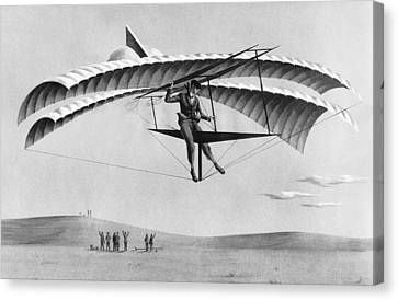 Man Gliding In 1883 Canvas Print