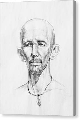 Necklace Canvas Print - Man Head Study by Irina Sztukowski
