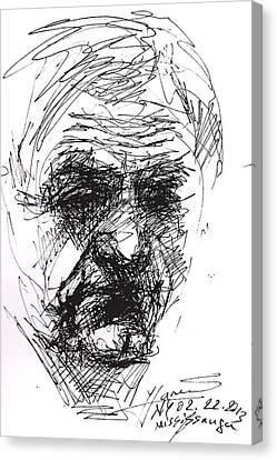 Man Head Canvas Print