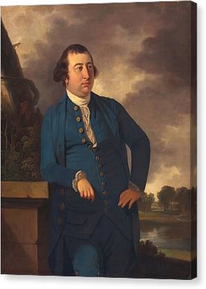 Man In An Indian Landscape, C.1773 Canvas Print by Tilly Kettle
