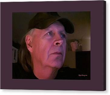 Man In The Mirror Canvas Print by Wayne Bonney