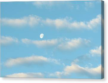 Canvas Print featuring the photograph Man In The Moon In The Clouds by Fortunate Findings Shirley Dickerson