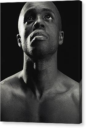 Man Looking Up Canvas Print by Darren Greenwood