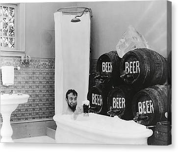 Man Loves Cold Beer  1916 Canvas Print