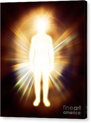 Man Luminous Ethereal Body Qi Energy Canvas Print by Oleksiy Maksymenko