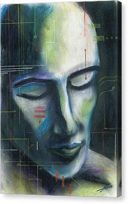 Man-machine Canvas Print by John Ashton Golden