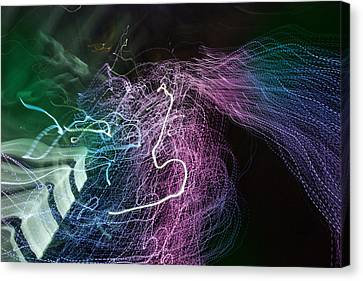 Canvas Print featuring the digital art Man Move 0060 by David Davies